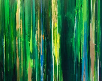 """SOLD 48"""" x 48"""" Through the Forest"""