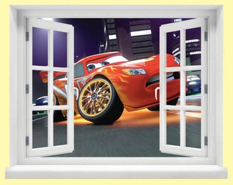 Window with a View Disney Cars Wall Mural