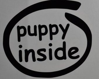 Puppy Inside Decals