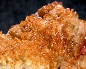 Fine Vanadinite Crystals on Baryte Mineral Specimen