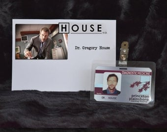 """TV Show House MD Exact Replica Prop """"Gregory House"""" Hospital ID"""