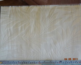 Floral Pattern Fabric in Cream with Gold Shade