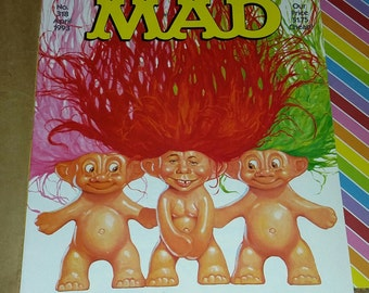 Vintage 1993 Mad Magazine Alfred E Neuman Troll Cover # 318