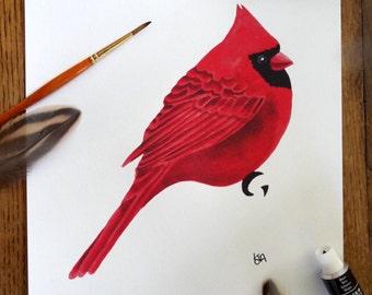 Red Cardinal Print