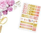SBC August Faux Glitter Icons and Weekend Banners-- Matte Planner Stickers