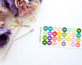 Mini Dots -- Workout Shoes -- Matte Planner Stickers