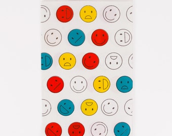 10 pouches Smiley Happy Faces - pouches made of paper emoji smiley - made in FRANCE