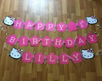 Hello Kitty Birthday Decoration / Banner