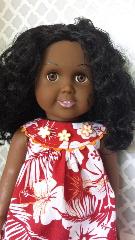 Cute Vintage Hawaiian Print Dress For 18 Inch Dolls Like