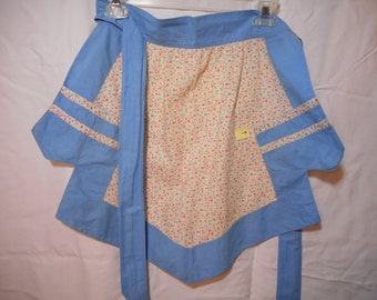 Vintage feed sack apron hand made 1930s