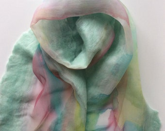 Handfelted Silk Scarf
