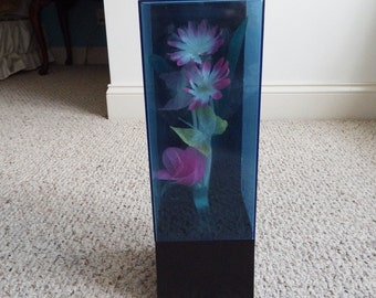FIBER OPTIC LIGHT Flowers Butterflies and Music Box,Flower Lamp, Wind up Music Box