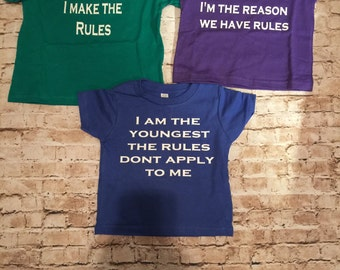 Sibling Shirts: Oldest, Middle, and Youngest