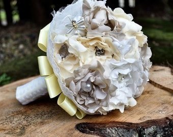 Small Fabric Vintage Inspired Bridal Bouquet