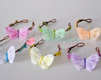 Flower Crown Butterfly flower crown Flowergirl Headband Butterfly Headband Flowergirl Crown Butterfly Crown Floral Halo Butterfly Floral