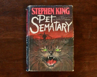 1st BC Edition Pet Sematary by Stephen King Hardcover with Dust Jacket/ 1983 Doubleday