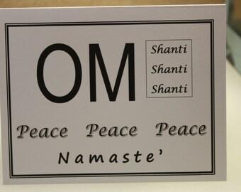 OM Shanti 4 Notecards with envelopes