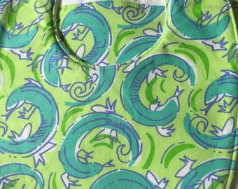 Lilly Salamanders: bib & burp cloth set