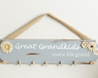 Great Grandkids Make Life Grand Sign / Great Grandkids Sign / Christmas gift for grandmother / Grandparent Gift / Mother Gift / Gift for Mom