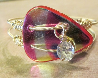 Rainbow Guitar String Bracelet