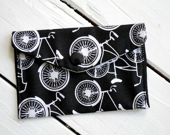 Bicycle Print Wallet - Business Card Holder, Credit Card Holder, Mini Wallet
