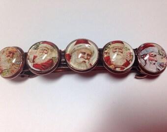 Christmas barrette/santa barrette