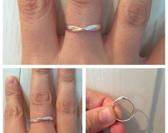 sterling silver ring, mobius ring, math ring, gift for her, gift for girlfriend, anniversarry gift, engagement ring, silver ring,