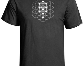 Sacred Geometry Kabbalah Tree of Life T-Shirt