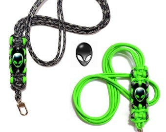 ALIEN GREY Accessory Neck Lanyard - Alien Key Chain Lanyard  Vape Necklace - I.D. / Badge Holder * Color Options * UFO I Want To Believe