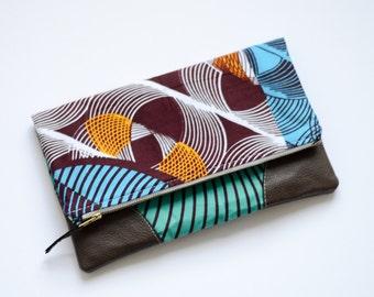 Clutch Bag - Clutch Handbag - Fold Over Clutch - Burgundy Clutch - Oversized Clutch - Clutch Purse - Fold Over Bag - Teal Clutch