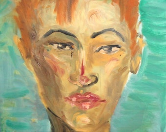 Expressionist Oil Painting Portrait