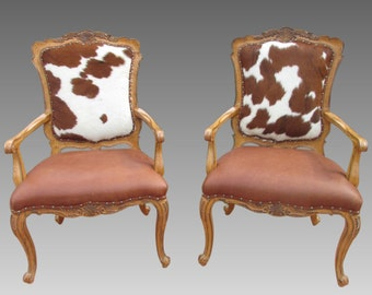 Cowhide chairEtsy