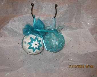 Handcrafted quilted ornament just in time for christmas