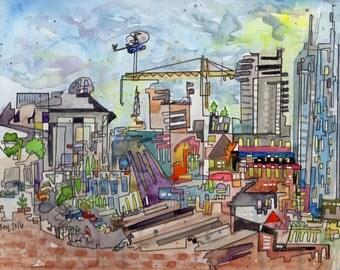 Downtown - PAiNtBABies- PRINT