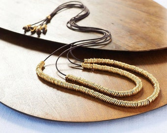 Gold Rings Necklace