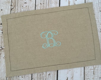 Natural Linen Monogrammed Placemats