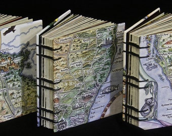 Australian Hand Drawn Map with Original Quotes and Photos by Stephanie Pollard - First Limited Handbound Edition of 100 copies