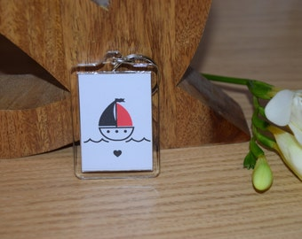 Boat 'You Float My Boat' Keyring