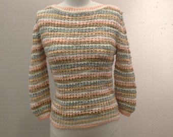 Diane von Furstenberg Sweater, Vintage, Knit, Boho, 70's/80's