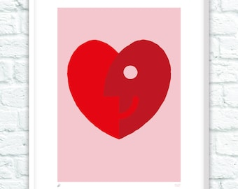 When Head Meets Heart - Limited Edition Print A3 and A2