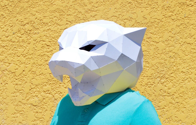 DIY Panther Mask. | Panther mask | forest animal | papercraft ...