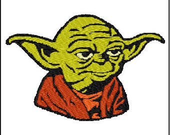 Star Wars Yoda Embroidery Design