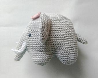 Crochet elephant, stuffed elephant, amigurumi elephant, elephant toy