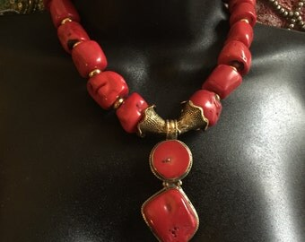Red Coral Necklace #1