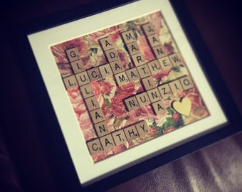 Mothers Day Scrabble Frame
