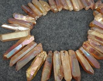 Raw Crystal Quartz, Approx. Mystic Crystal 5-9*25-40mm