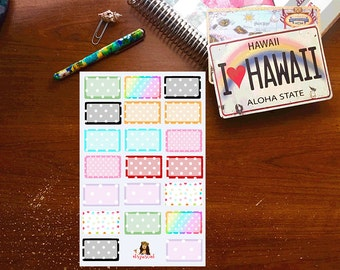 Polka dot half box Planner stickers