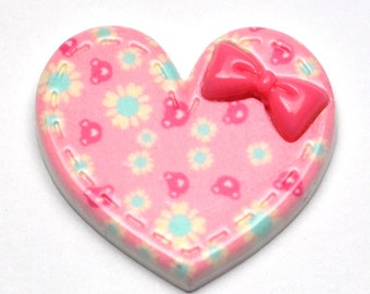 Pink Daisy Heart, Pack of 5