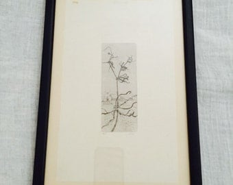 Vintage Pencil Drawing. A scenery initialed JW limited eddition 6/10.