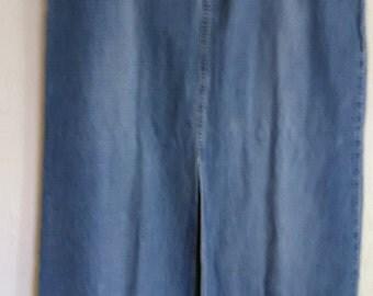 2. Vintage Long Blue Jean Skirt